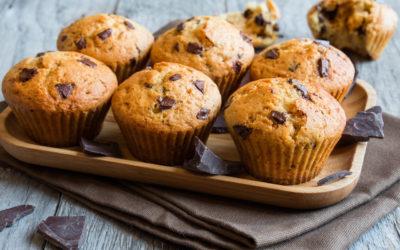 Muffiny s klíčenou quinoou a kousky čokolády