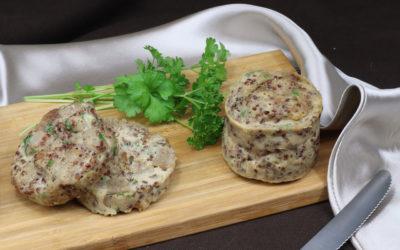 Žitný knedlík s klíčenou quinoou